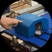 Peça impressão 3D industrial em dddrop Reposição Linha de Produção em ABS