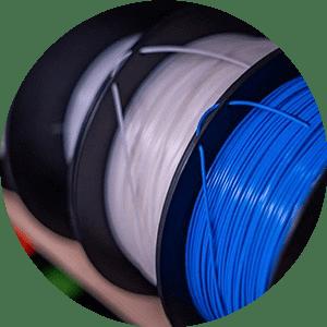 Rolos de Filamento dddrop PLA Azul Branco